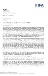 Surat FIFA untuk Indonesia